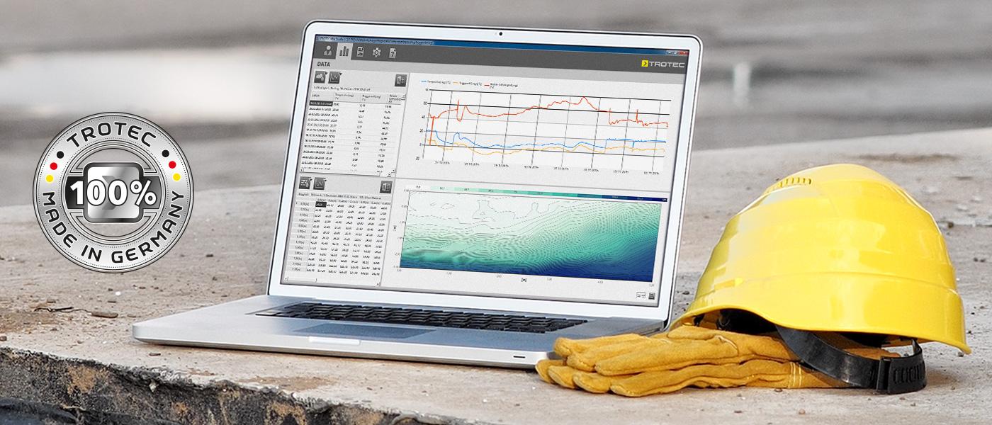 Kända Mätdatahantering-program MultiMeasure Studio Professional 2.0 - TROTEC TN-84